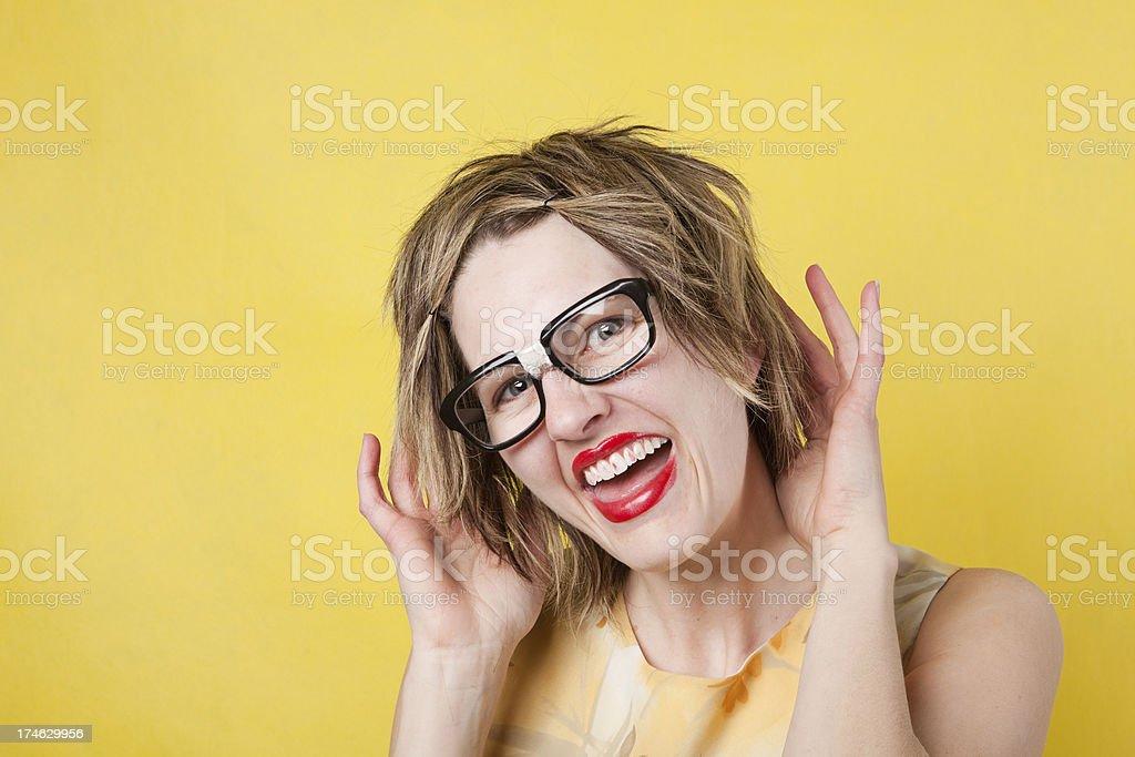 Flirting Geek royalty-free stock photo