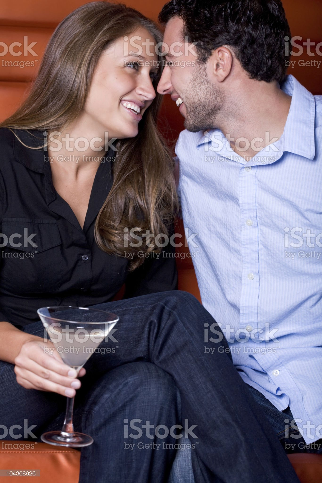 Flirting royalty-free stock photo