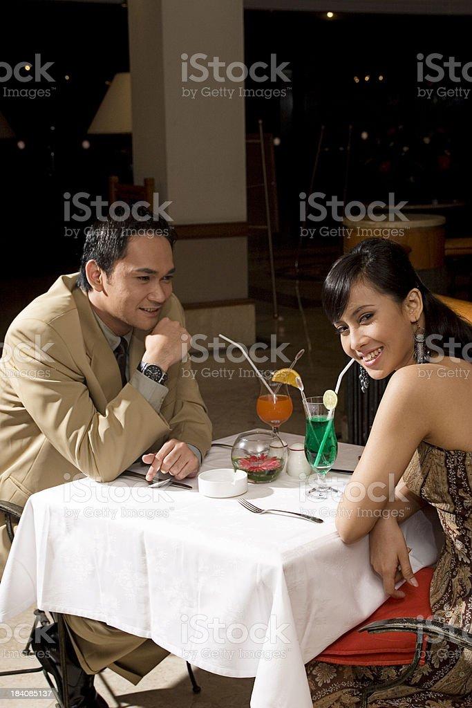 Flirting Smile royalty-free stock photo
