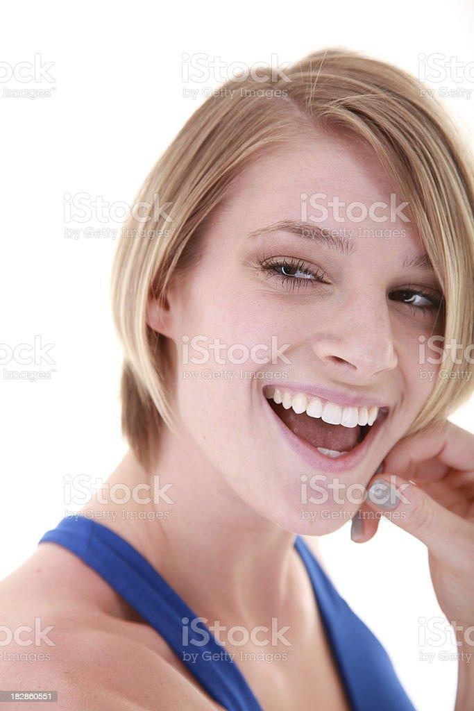flirty rubia foto de stock libre de derechos