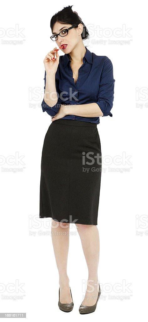 Flirty Business Woman royalty-free stock photo