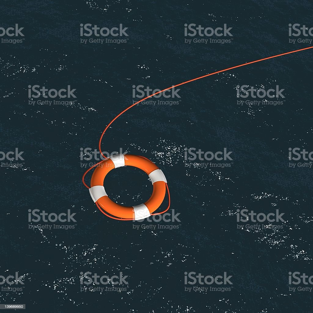 Float  Over Sea royalty-free stock photo