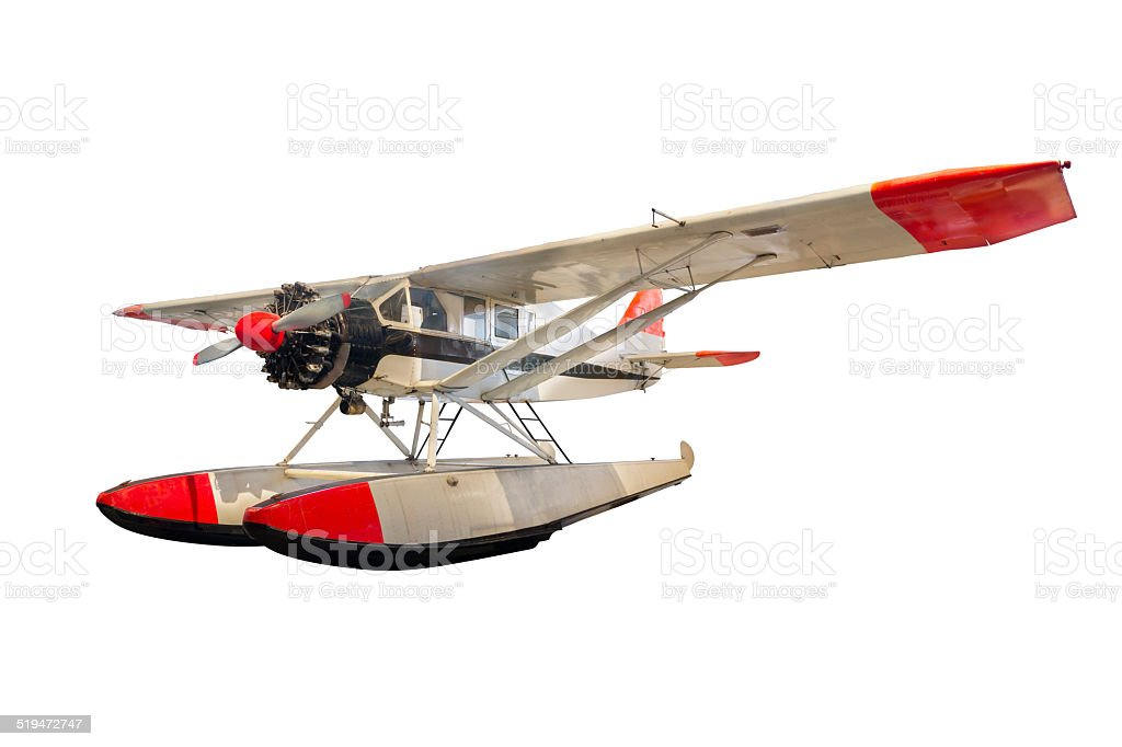 float plane - bellanca CH-300 pacemaker stock photo