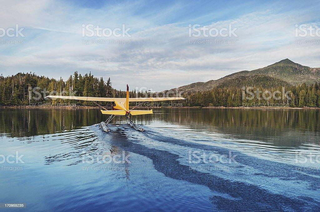 Float Plane Departure stock photo