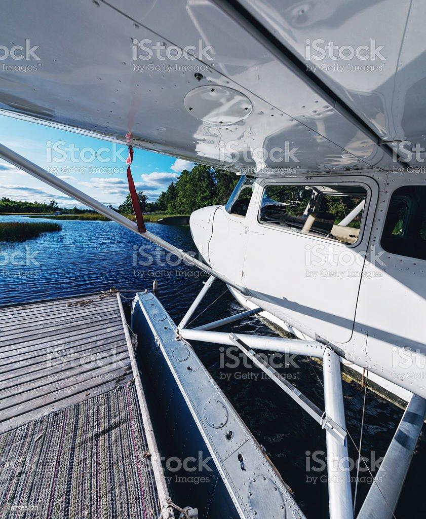 Float Plane Dock stock photo
