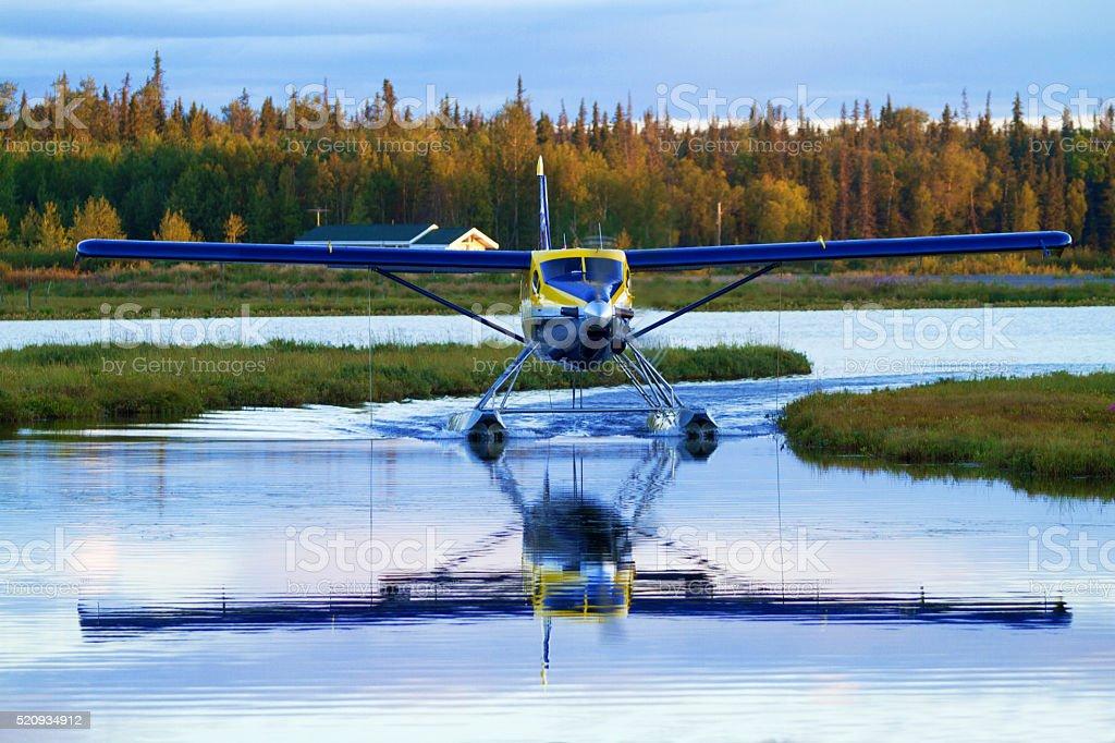 Float Plane in Alaska stock photo