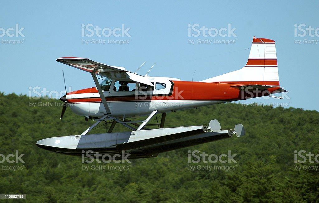 Float Plane Landing stock photo