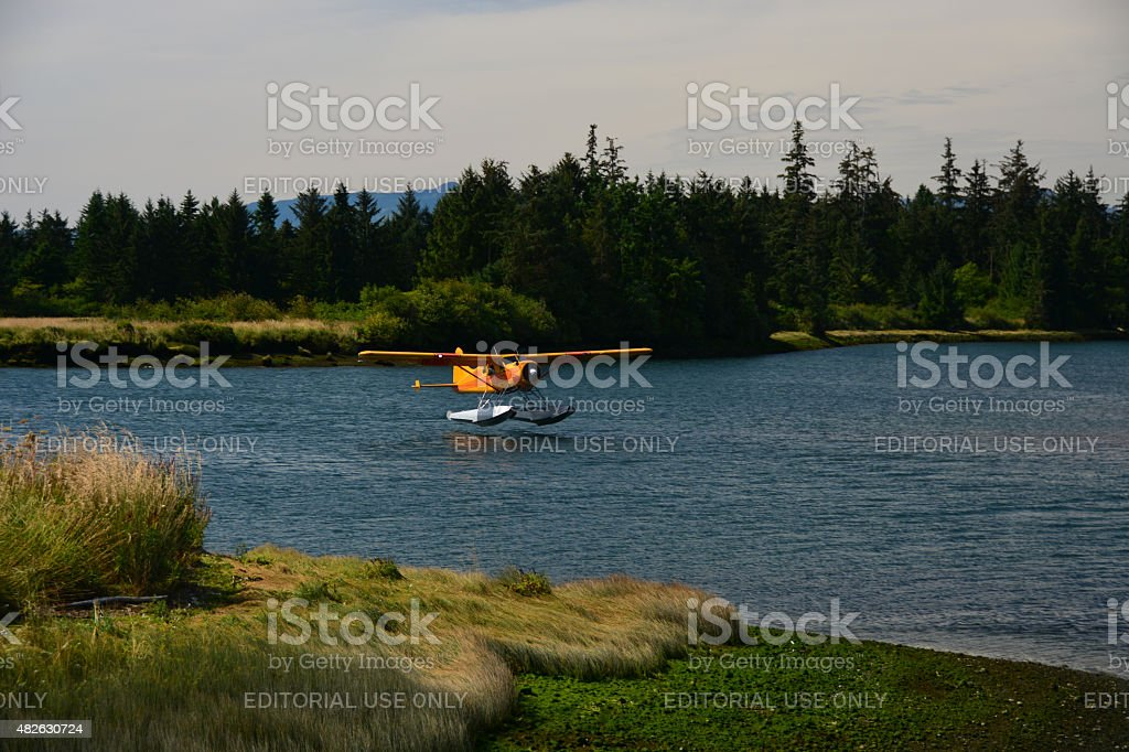 Float plane or sea plane stock photo