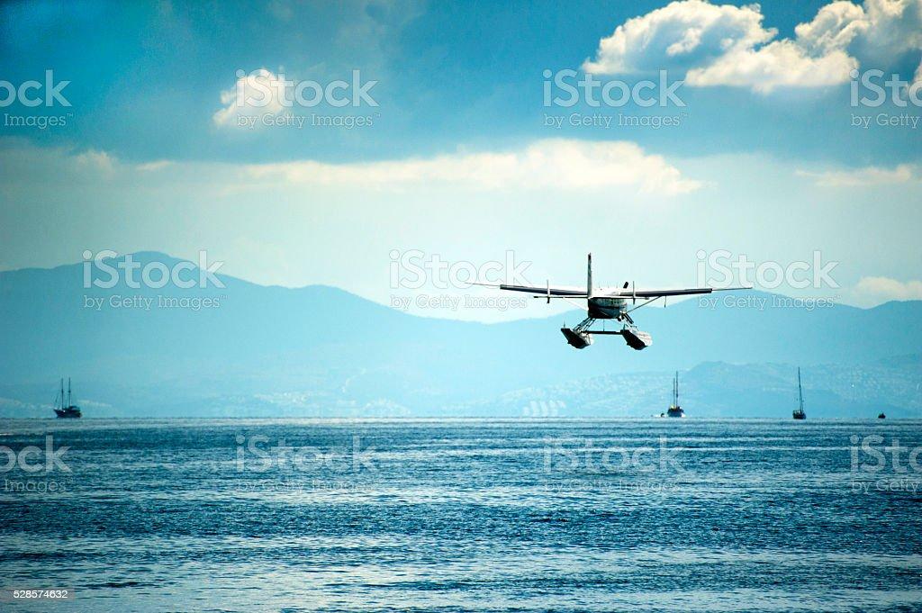 Float plane stock photo