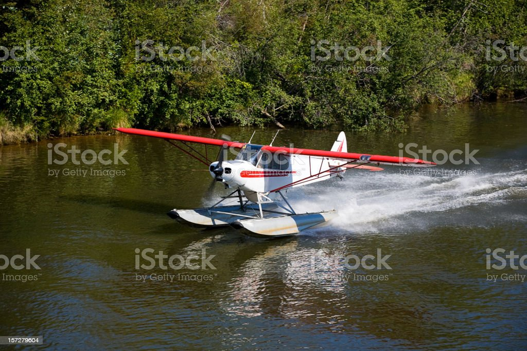 Float Plane Taking Off stock photo