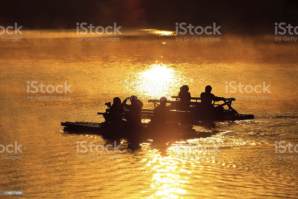 Float raft downstream royalty-free stock photo