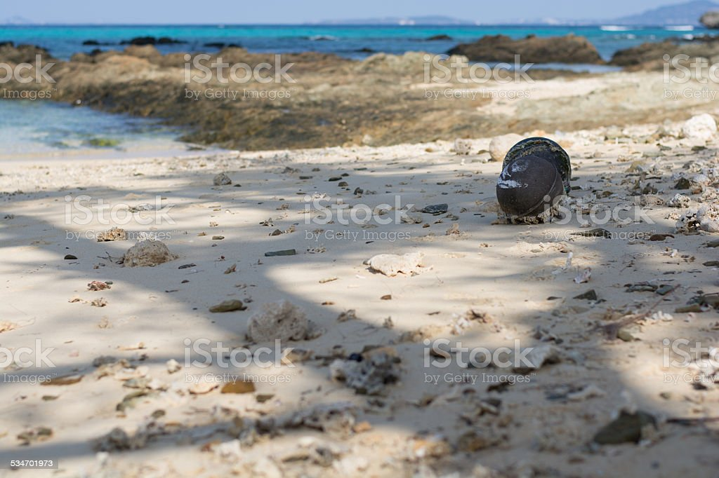 Float that was washed ashore royalty-free stock photo