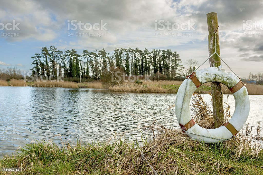 Floater on the lake royalty-free stock photo