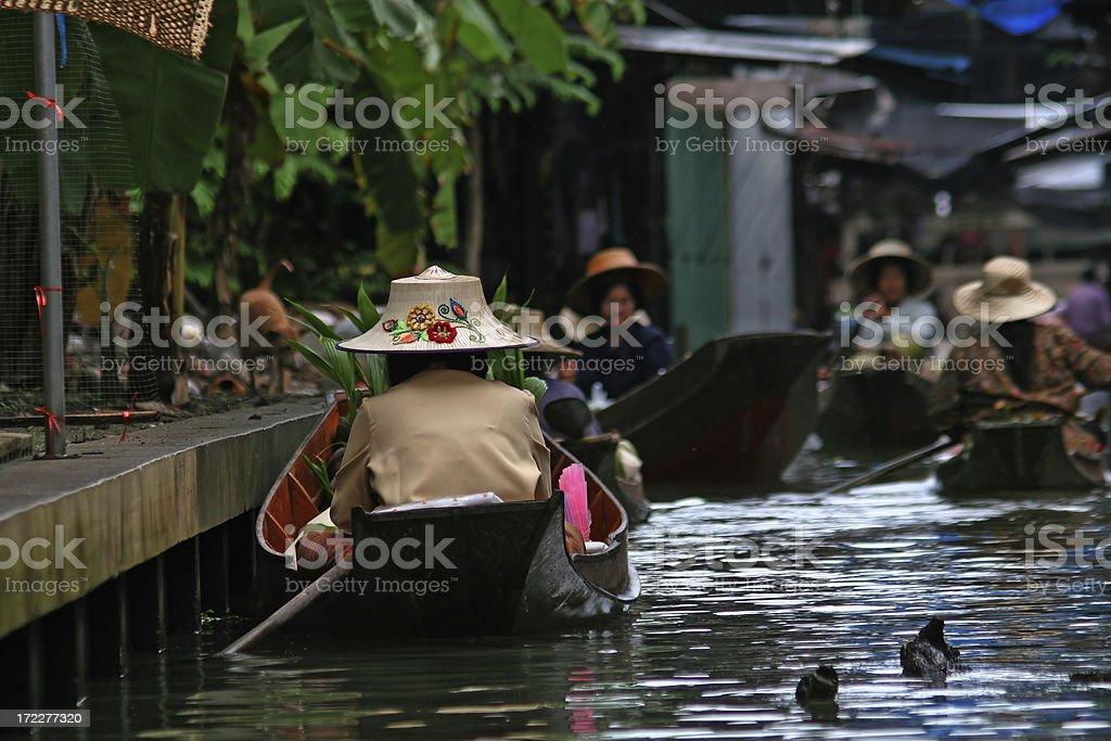 Floathing market stock photo