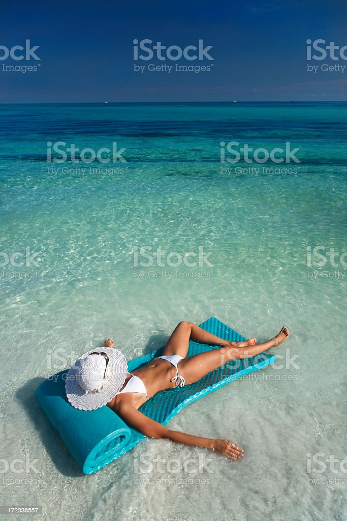 floating beauty royalty-free stock photo