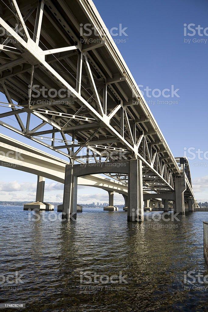 I-90 Floating Bridge royalty-free stock photo