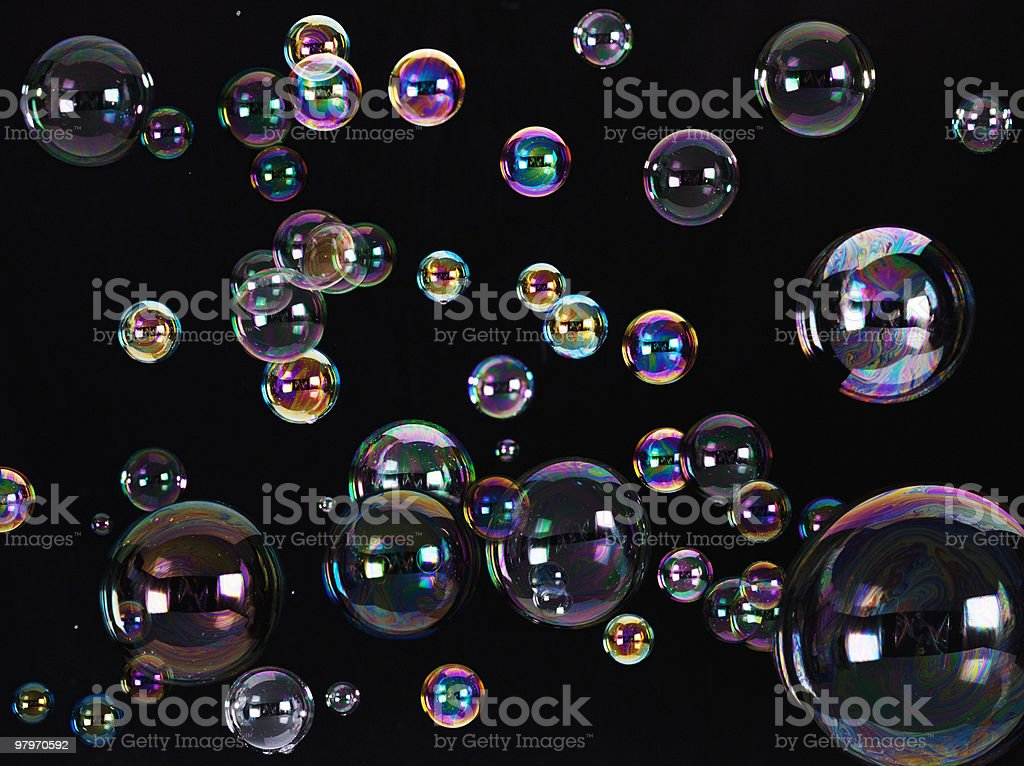 Floating bubbles stock photo