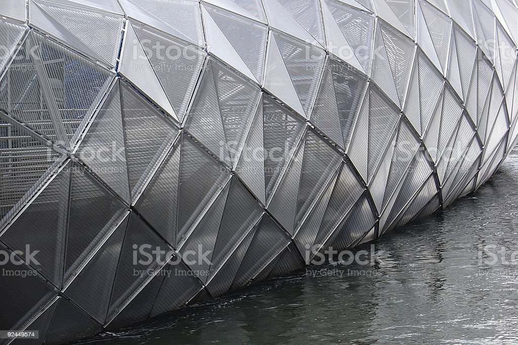 Floating Cage stock photo