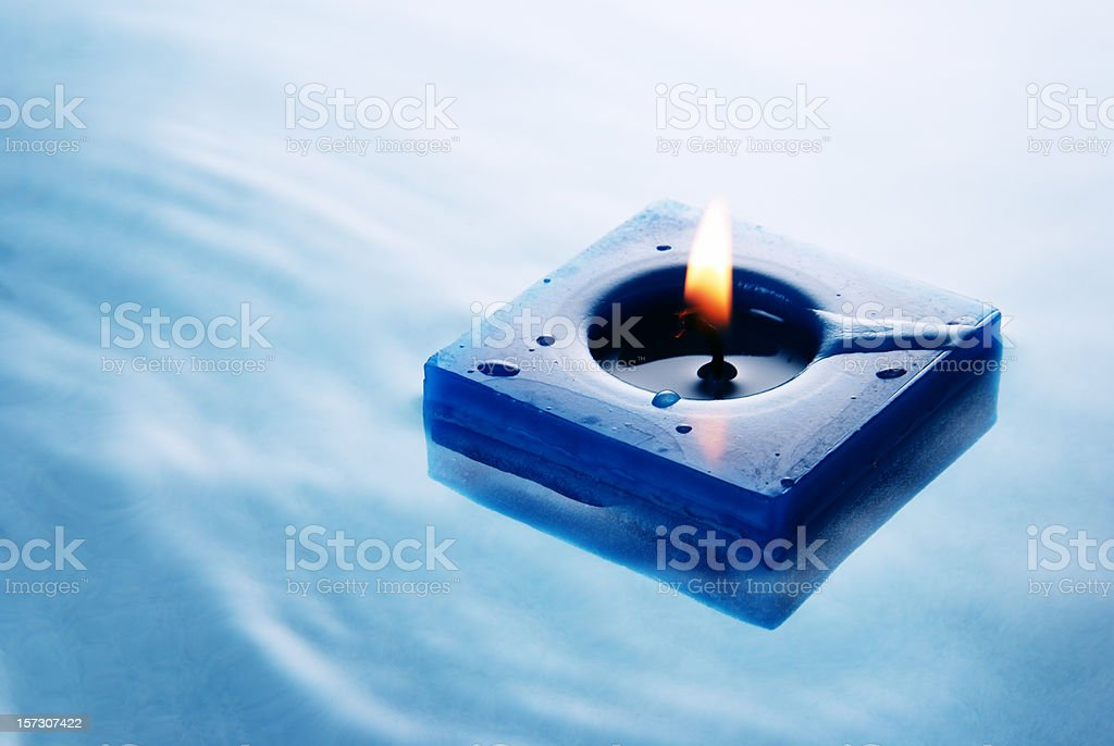 Floating candle stock photo