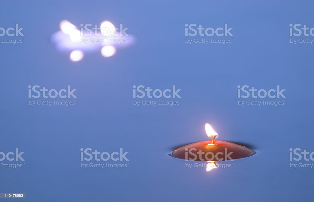 Floating Candles 2 stock photo