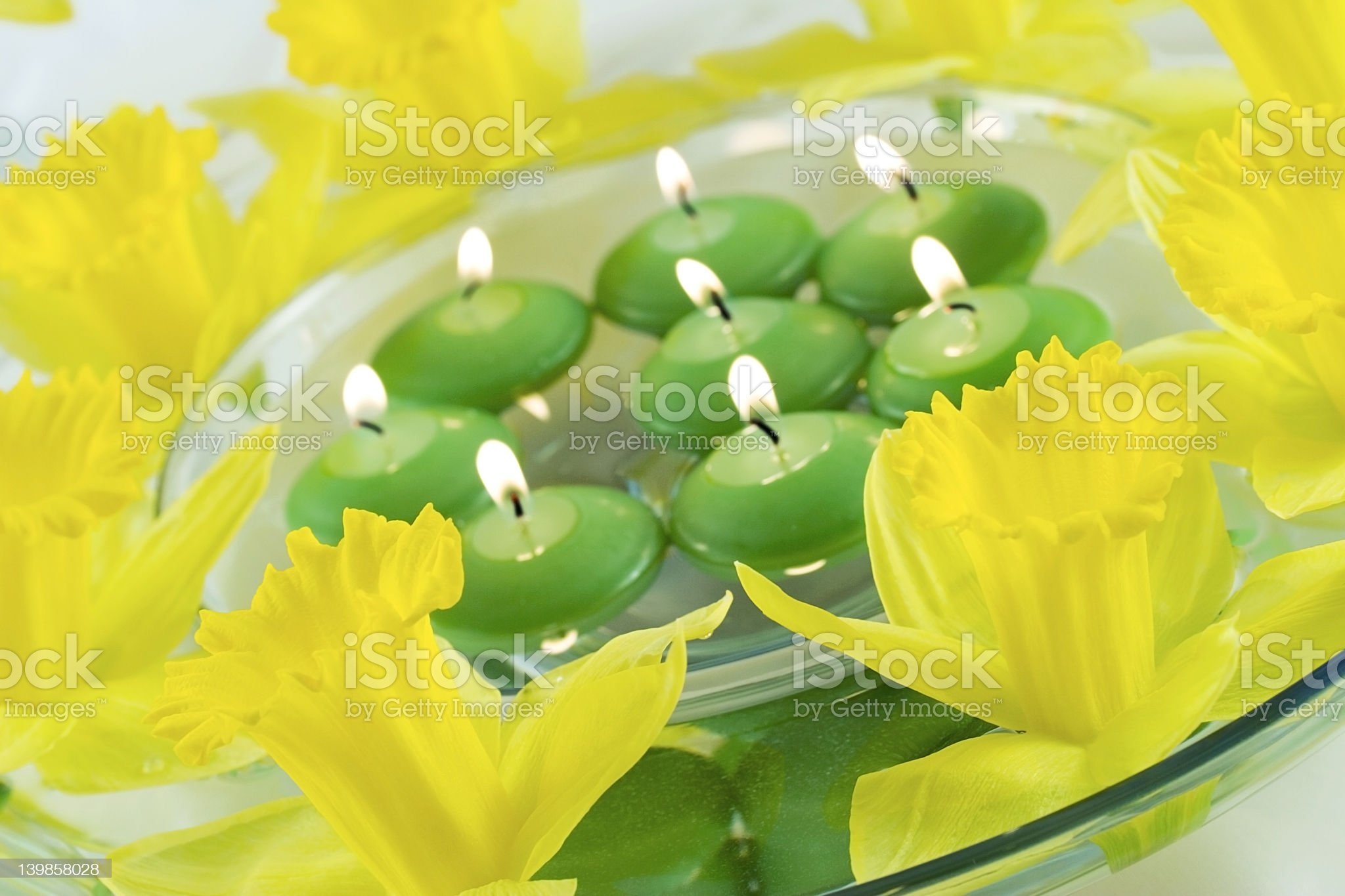 Floating candles royalty-free stock photo