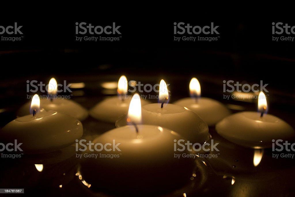 Floating Candles stock photo