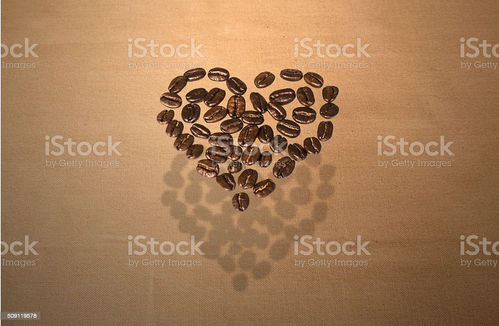 Floating Coffee Bean Heart stock photo
