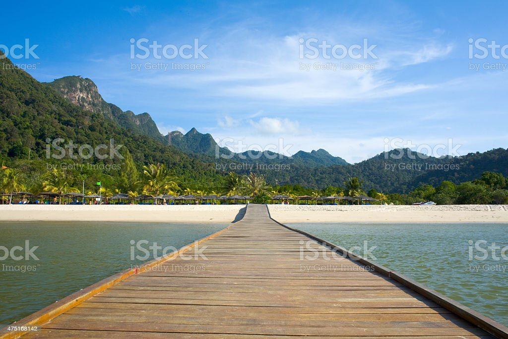 Floating Deck towards Sky stock photo