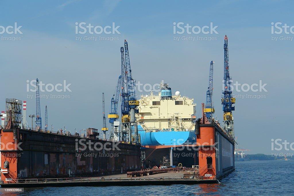 Floating dock 2 stock photo