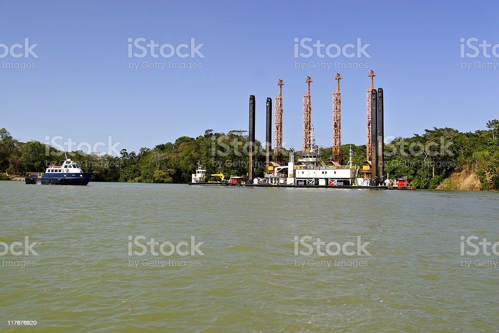 Floating dock royalty-free stock photo