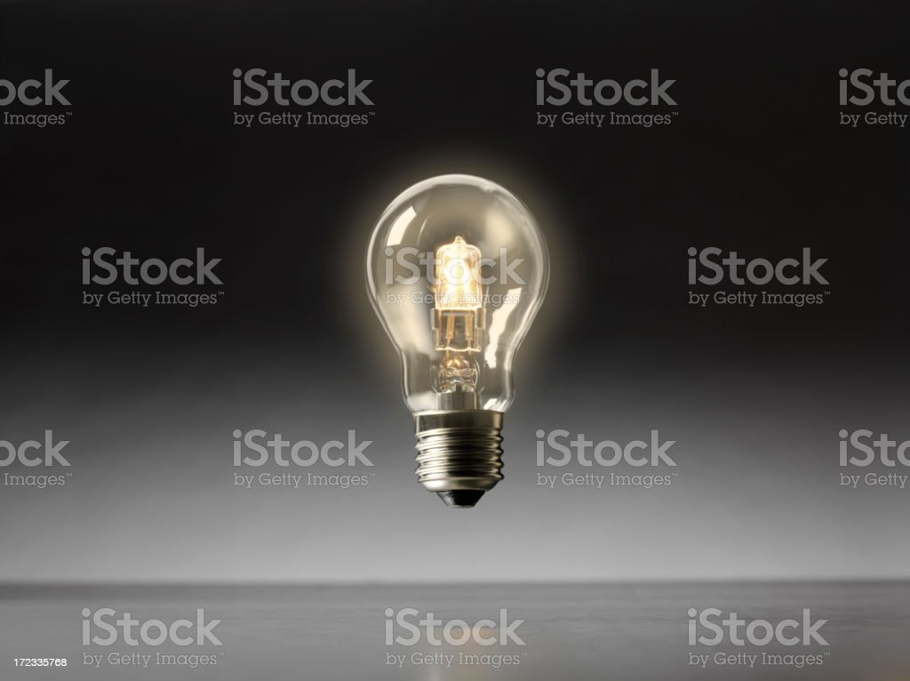 Floating Electric Light Bulb royalty-free stock photo