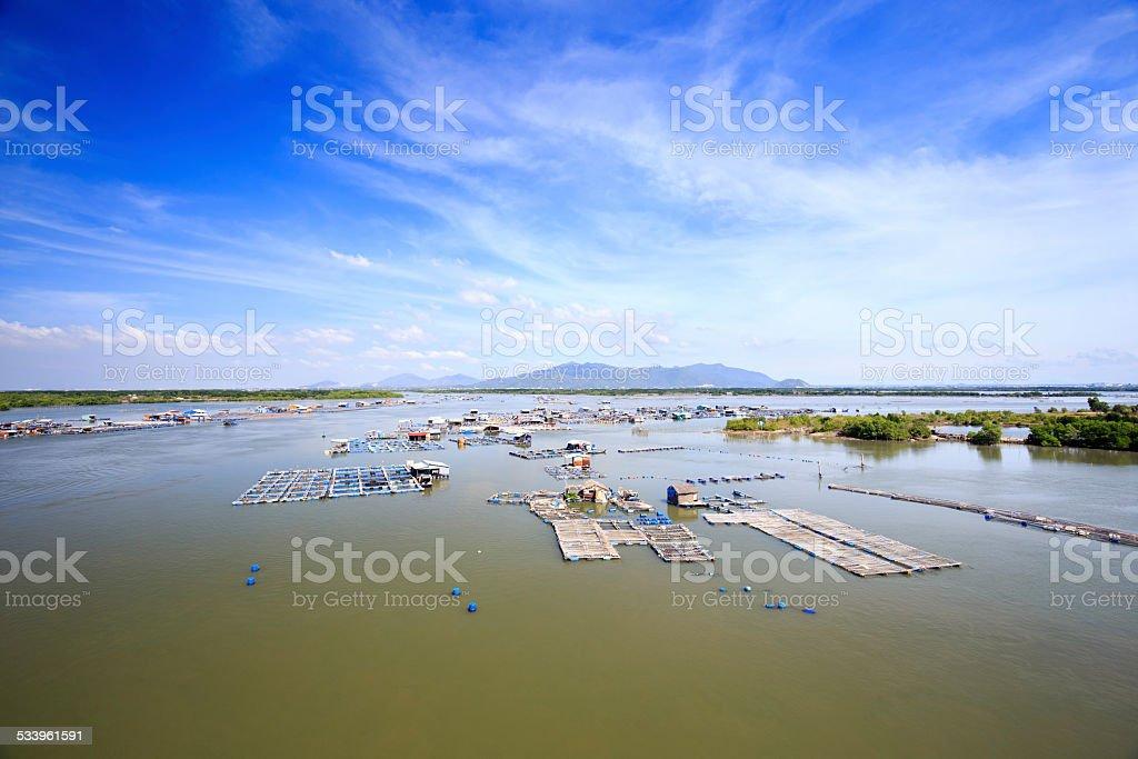 Floating fishing village, Long Hai, Vietnam royalty-free stock photo