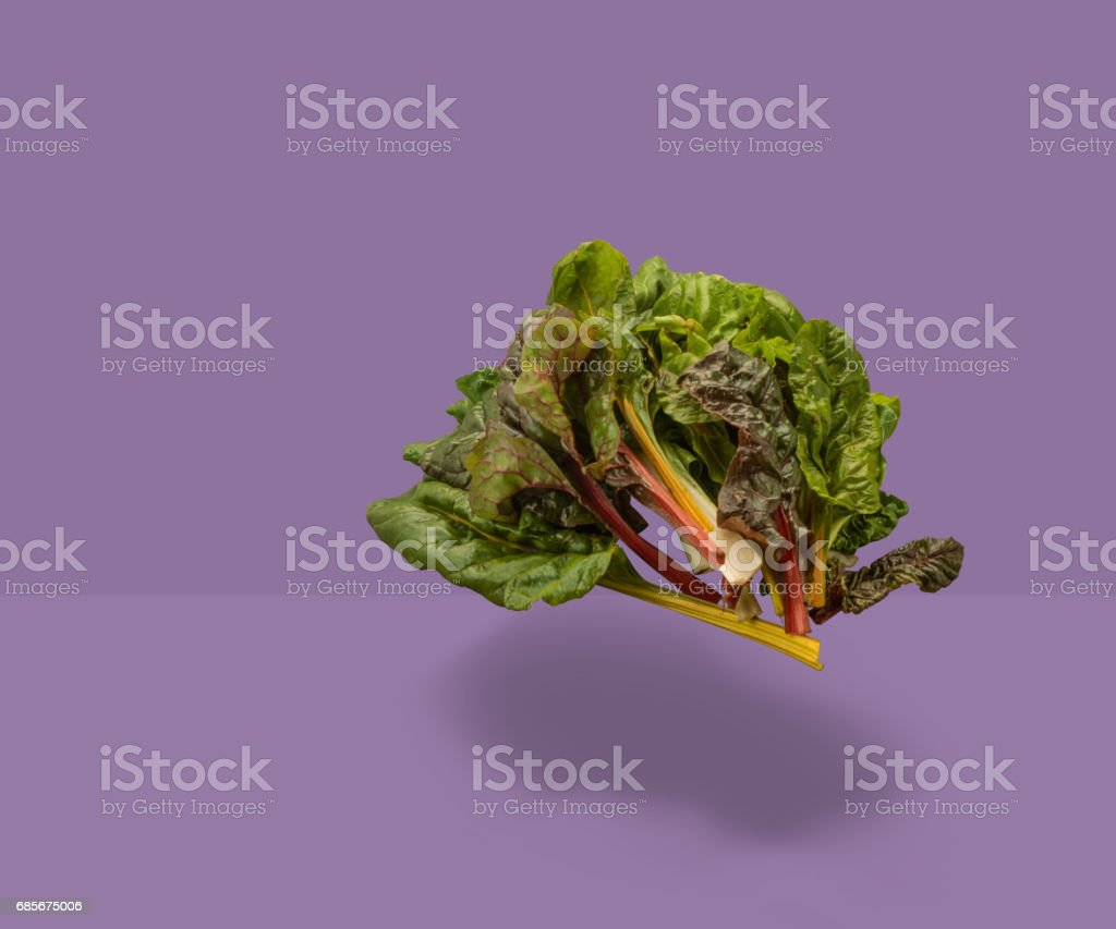 Floating fruit and vegetables stock photo