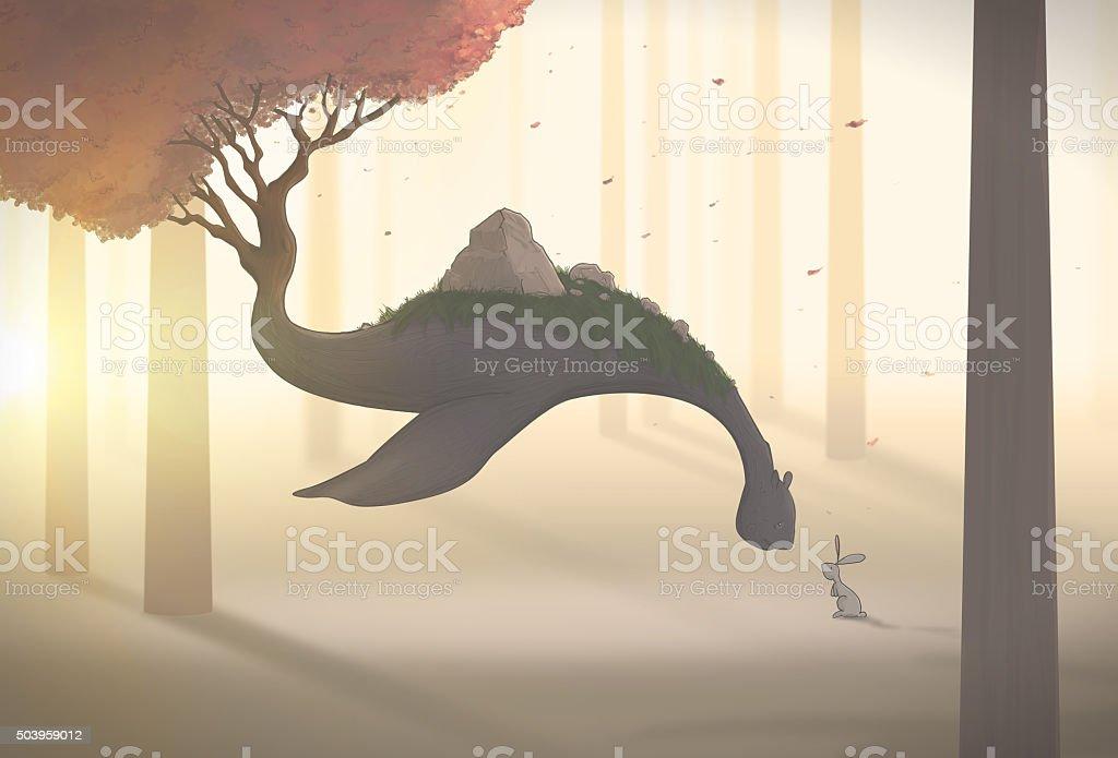 Floating gentle giant stock photo