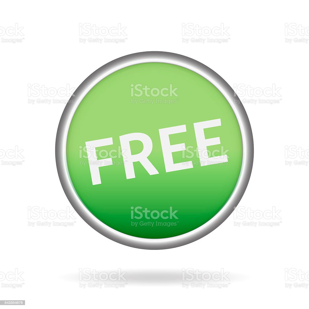 Floating green Button or Badge with text free stock photo