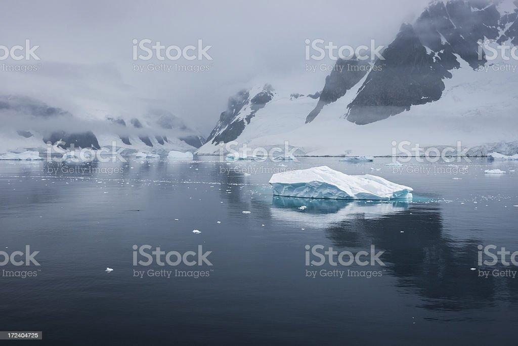 Floating Iceberg in Antarctica royalty-free stock photo