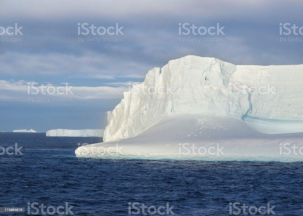 Floating Iceberg in Antarctica stock photo