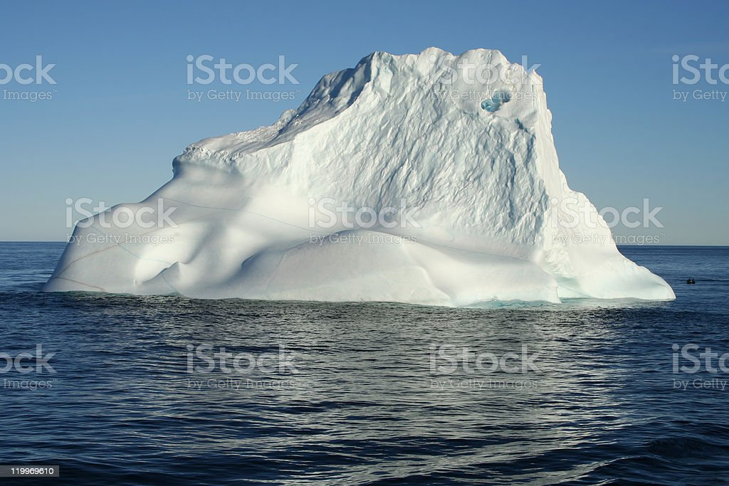 Floating iceberg stock photo