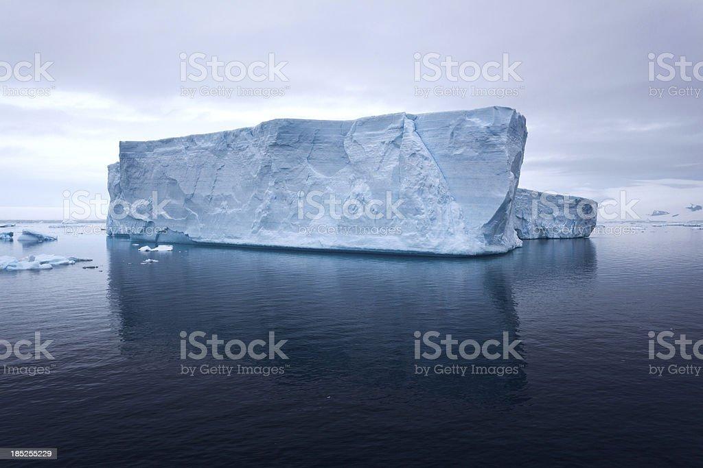 Floating iceberg royalty-free stock photo