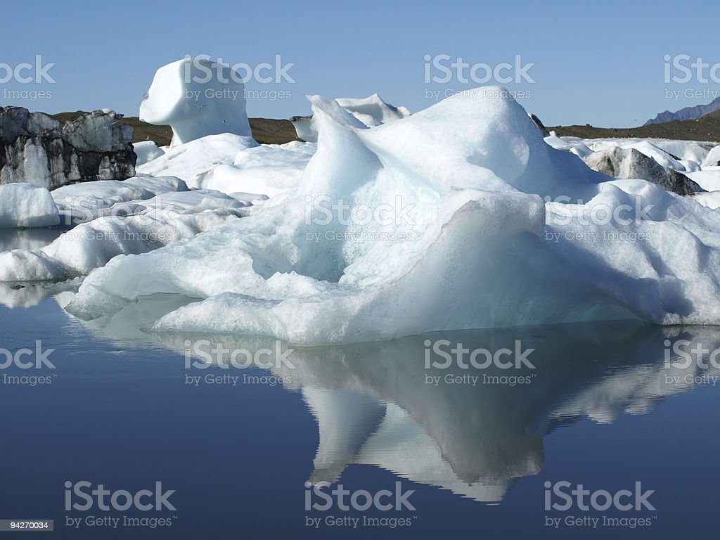 Floating iceberg royalty-free stock photo
