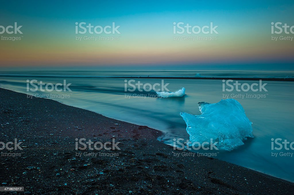 Floating icebergs in Jokulsarlon Glacier Lagoon, Iceland royalty-free stock photo