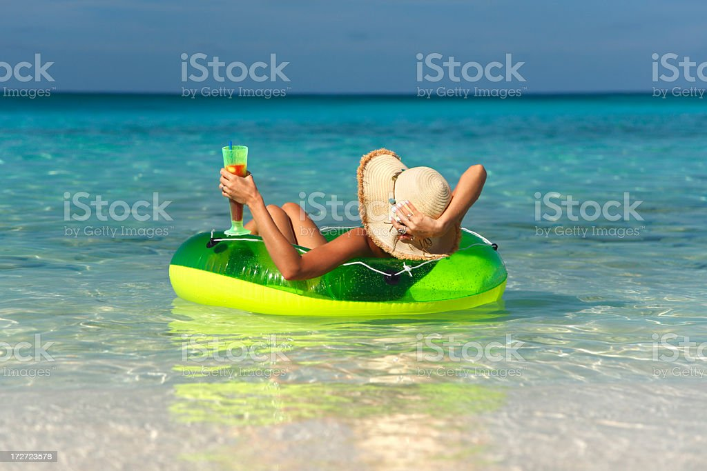 floating in paradise stock photo