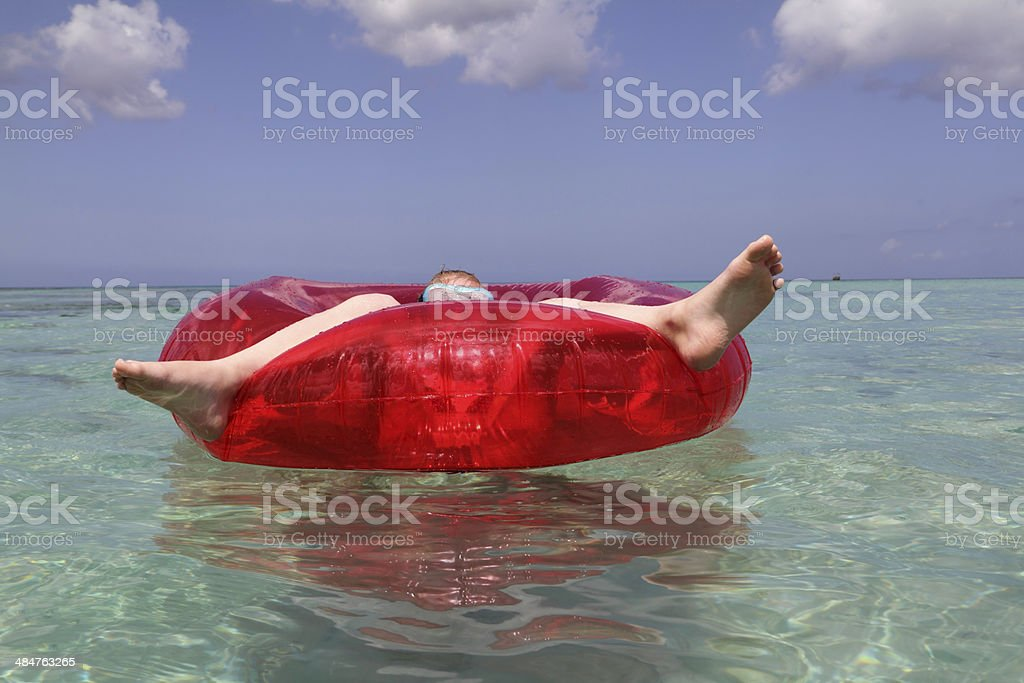 floating in the sun stock photo