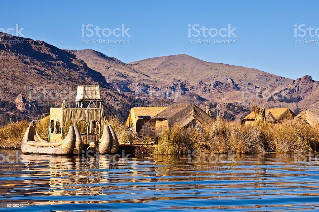 floating island stock photo