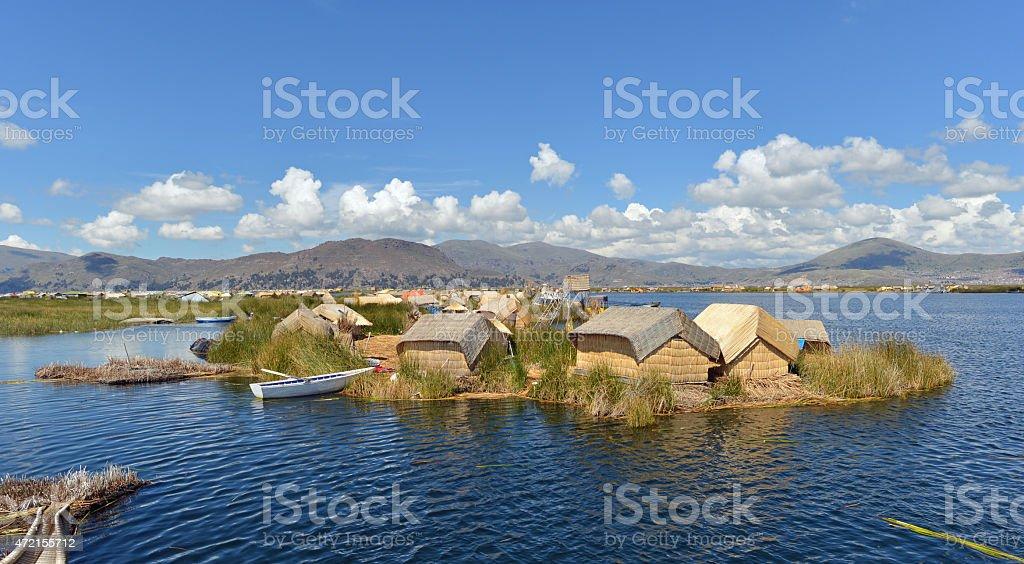 Floating island, Titicaca, Peru stock photo
