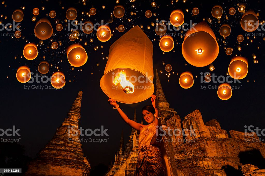 floating lamp stock photo
