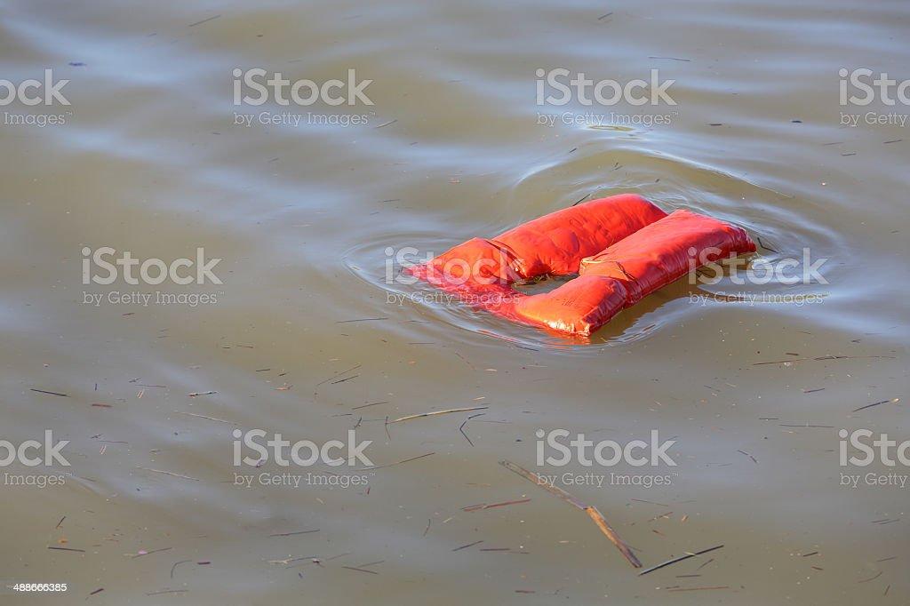 Floating Life Jacket stock photo