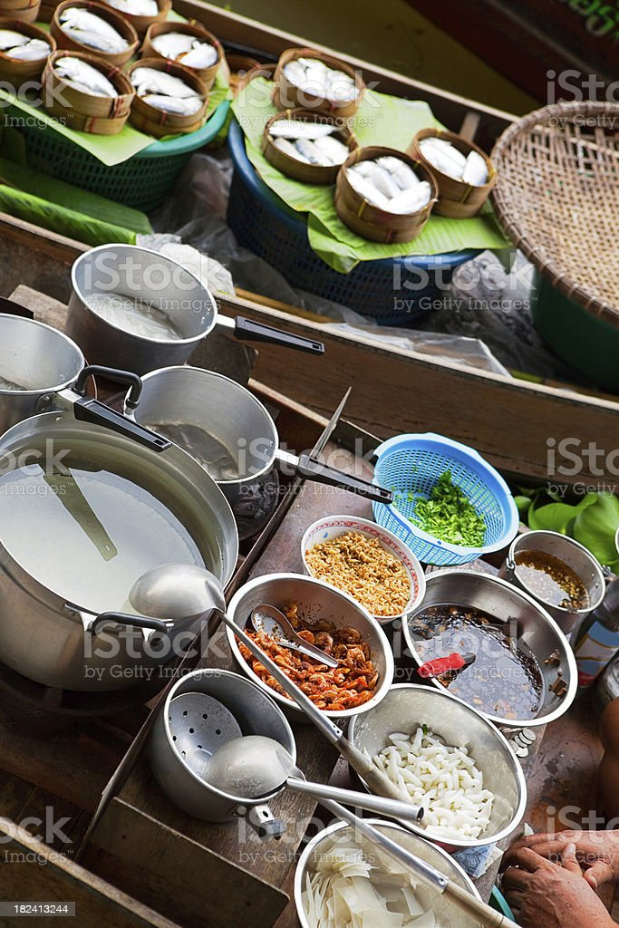 Floating market, Bangkok, Thailand royalty-free stock photo