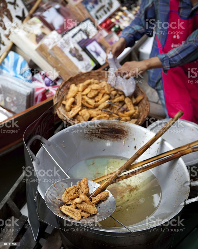 Floating market, Bangkok, Thailand royalty-free stock photo