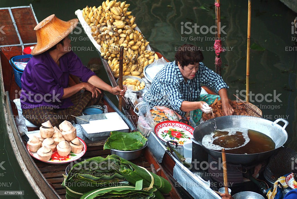 Floating market in Thailand. royalty-free stock photo